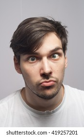 Cross Eyed Man Images Stock Photos Vectors Shutterstock