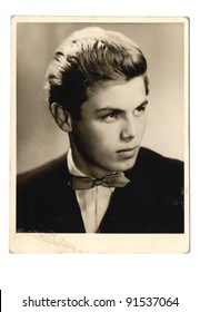 young man portrait - photo scan - about 1960