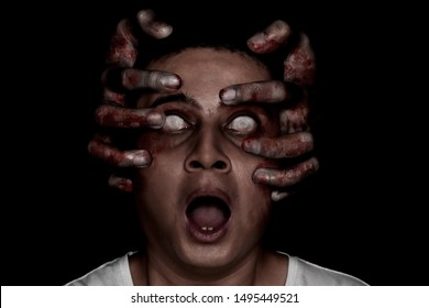 Young man possessed by devil