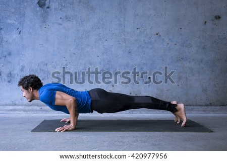 young man practicing yoga basic yoga stock photo edit now