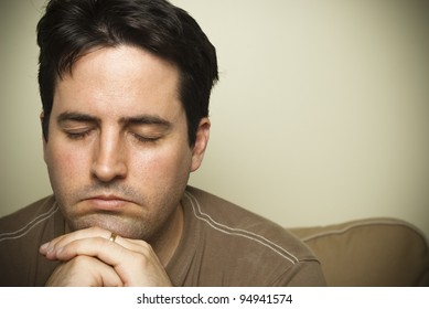 Young man in prayer