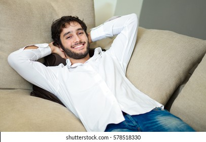 Young man relaxing on the couch