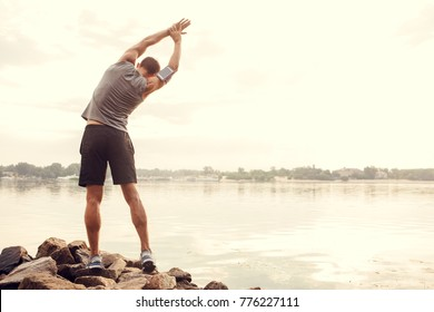 Young man runner jogging exercise healthy lifestyle