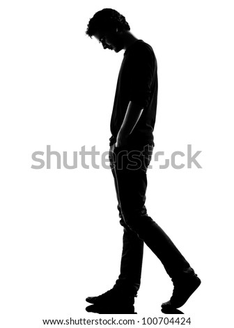 Young Man Sad Walking Silhouette Studio Stock Photo (Edit ...   336 x 470 jpeg 9kB