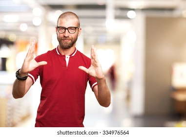 young man show gesture