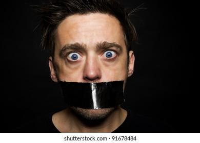 Young man silenced.