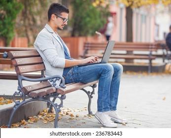 Terrific Imagenes Fotos De Stock Y Vectores Sobre Man Sitting On A Evergreenethics Interior Chair Design Evergreenethicsorg