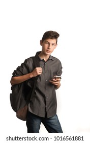Young man with smart phone