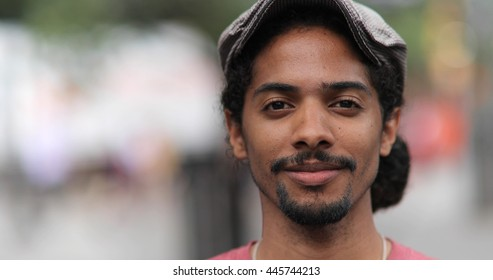 Young man smile happy face portrait