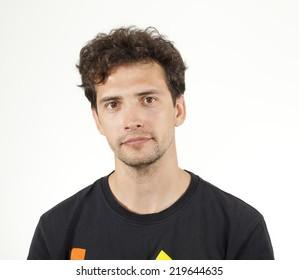 Young Man Smiling Portrait.