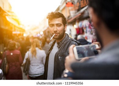 Young Man At Street
