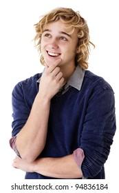 young man thinking