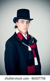 young man in top hat
