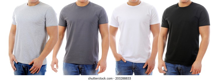 young man in a T-shirt. isolated on white background
