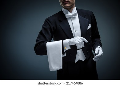 Young man in a tuxedo