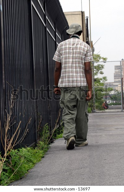 Young Man in Urban Setting