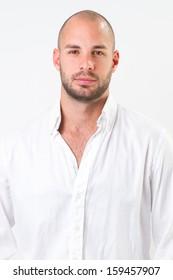 young man wearing white shirt