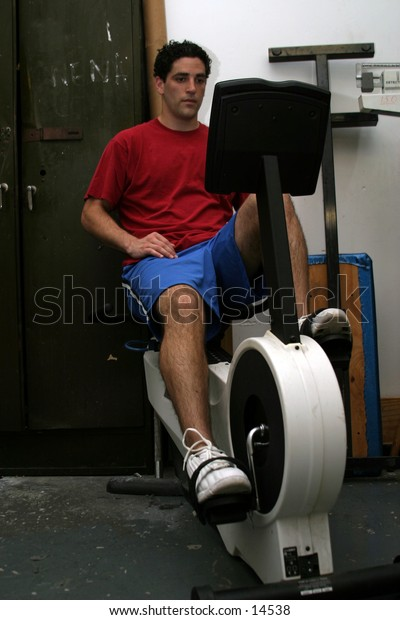 young man at weight gym