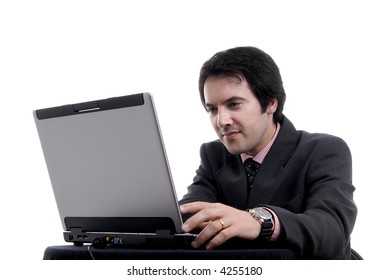 young man wondering and working with is laptop