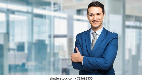 Young manager smiling in a modern office
