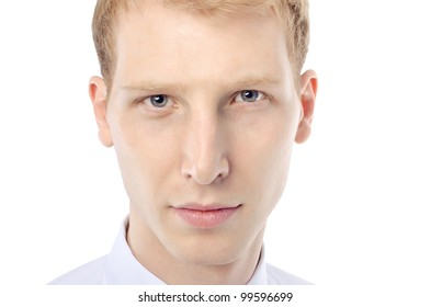 Young man's face