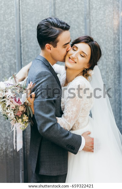 Young Marriage Couple Rustic Style Summer Stock Photo Edit Now 659322421