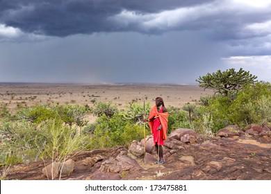 Young Masai looking away