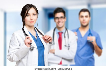 Young medical team