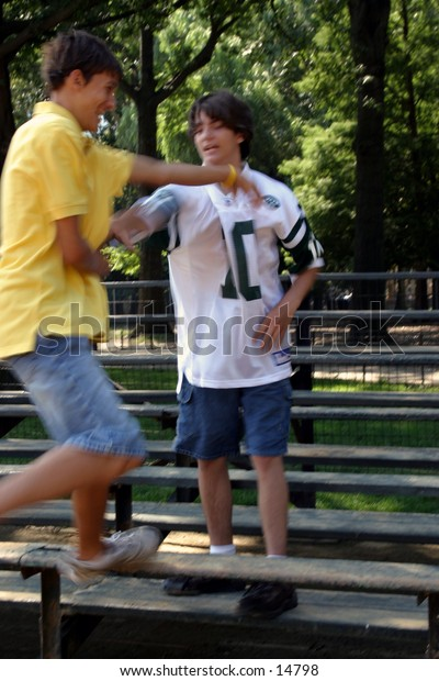 young men at park