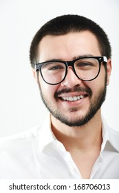 Young Middle eastern young attractive male model posing with glasses