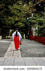 Young Miko in Kamakura. Japan 2017