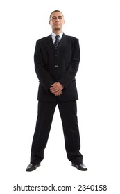 Young Modern Businessman generic portrait shot in studio over white background