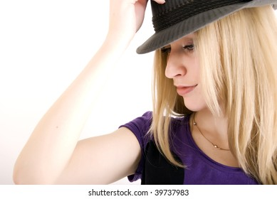 Young modern fashionable girl: nightlife style