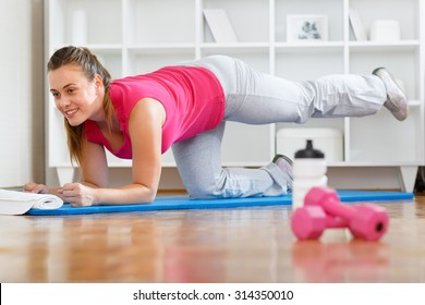 Young mother practicing to get back into shape after giving birth
