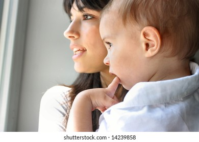 a young mother with your son