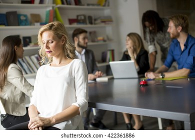 Young multiracial people people working in the office