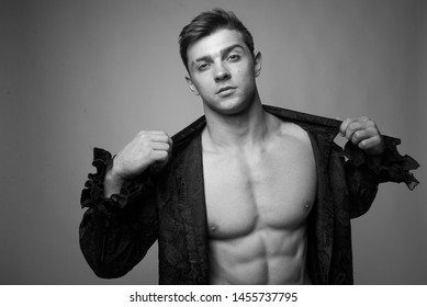 Young muscular male model, Handsome Good Looking And Attractive Young Man With Muscular Body Relaxing