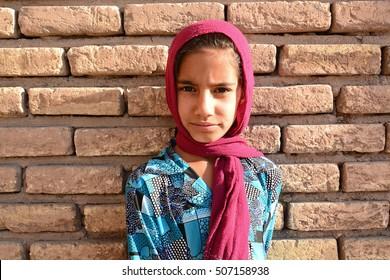 Young muslim afghan refugee girl, 31 september 2014, Kerman, Iran