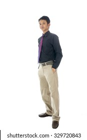 Young Muslim business man on white background