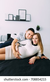 young parents are waiting for the birth of a child.