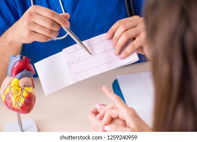 Young patient visiting doctor cardiologist