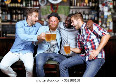 Young people in a bar