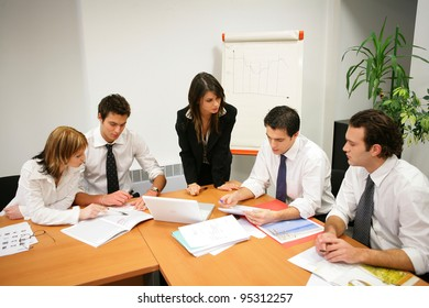 Young people in a business meeting