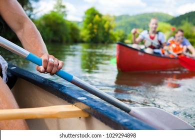 Young People Canoeing