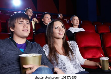 Young people in the cinema