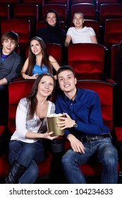 Young people at the cinema
