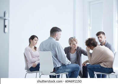 Young people during psychotherapy for anxiety disorder