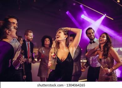 Young people having fun at the nightclub