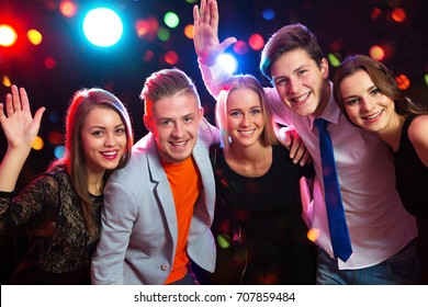 Young people having fun a party.