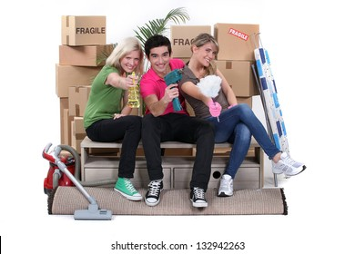 Young people moving in together